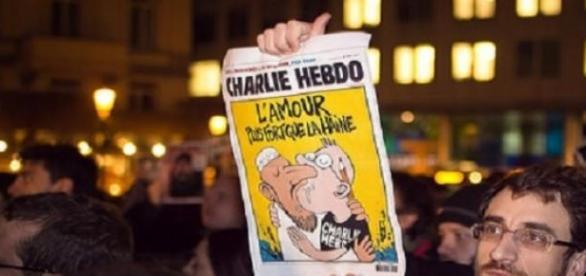Manifestación de Paris en enero a favor de C. H.