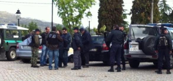Polícia no local do crime, em Viseu.