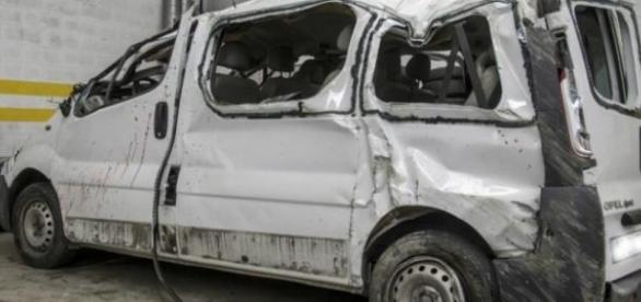 Estado da carrinha após acidente (ICAL)