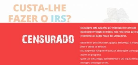 IRS Sem Custo Censurado pela CNPD