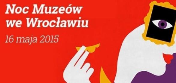 Noc Muzeów 2015 Wrocław - poster, mat. prasowy