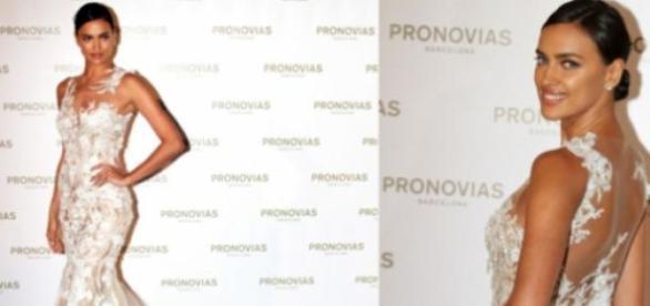Irina Shayk deslumbrante... de noiva!