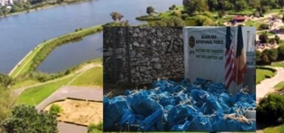 Parcul Tăbăcărie şi gunoaiele adunate de voluntari