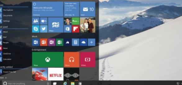 Menu inicio de Windows 10