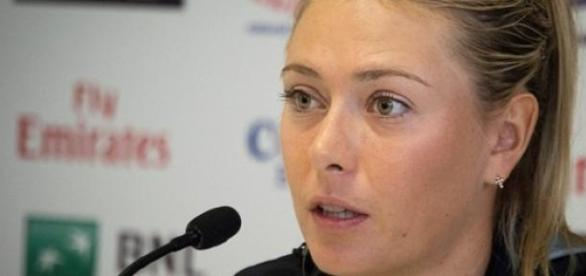 Sharapova faced the press after losing in France