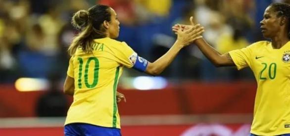 Marta e Formiga marcaram os gols brasileiros