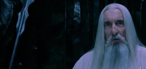 A interpretar Saruman em 'Lord of The Rings'.