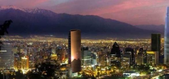 Atardecer en Santiago de Chile.