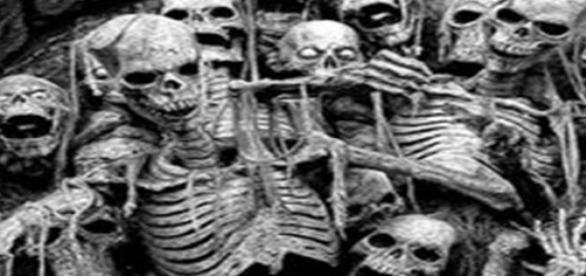 Fotos de cuerpos encontrados en la isla