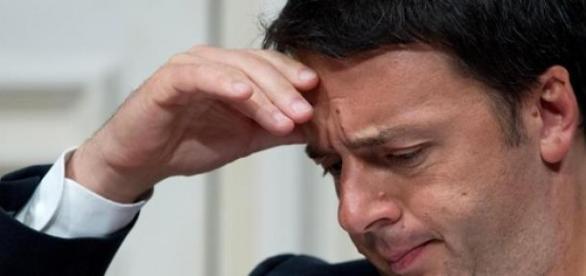 Il premier Renzi in grande difficoltà