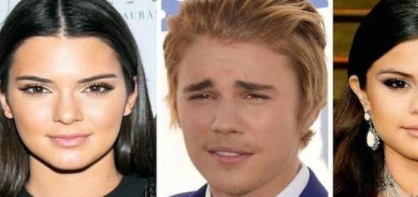 Kendall Jenner, Justin Bieber et Selena Gomez.