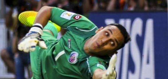 Keylor Navas con la selección de Costa Rica