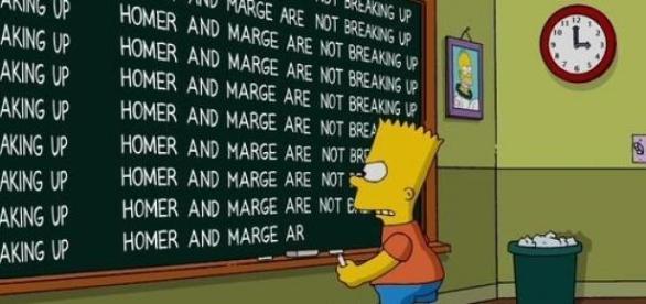 Marge y Homero Simpson no se separan