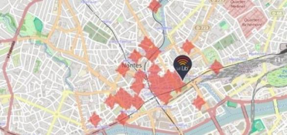 Réseau WifiLib - Centre-ville de Nantes