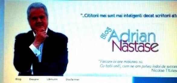 Adrian Năstase şi blogul său