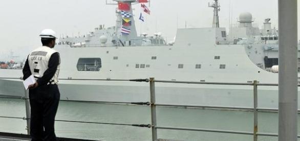 Chińska marynarka zawsze na posterunku