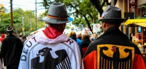 Deutsche Fans vor einem Deutschland Spiel