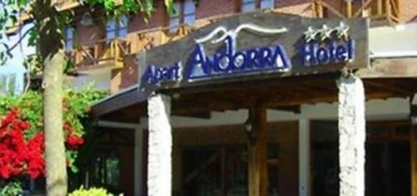 Fachada del Hotel Andorra, Valeria del Mar