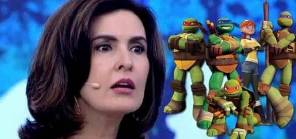 """Fátima Bernardes """"apanha"""" das 'Tartarugas Ninjas'"""