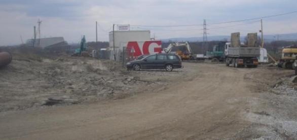 Fragment odcinka budowy nowej części trasy S7.