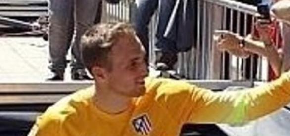 Oblak con el Atlético de Madrid