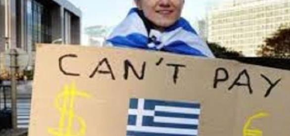 Immagine simbolo delle difficoltà del popolo greco