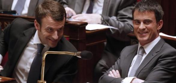 Emmanuel Macron et Manuel Valls