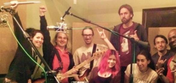 La banda  grabó su primer disco