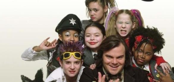 Los niños de Escuela de Rock en aquel entonces.