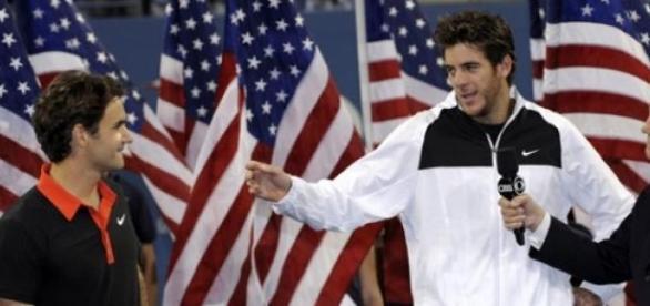Na premiação, Del Potro reverenciou Roger Federer
