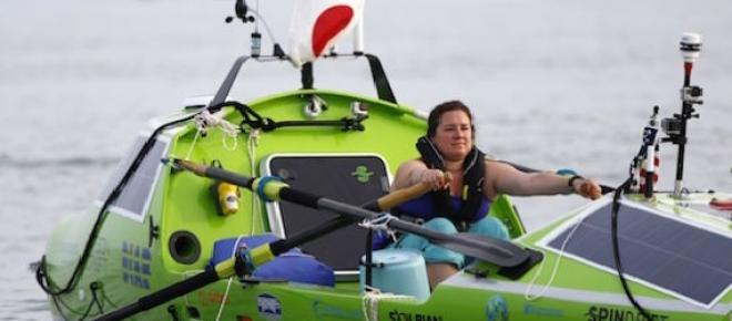 Woman set to cross Pacific is rescued near Japan