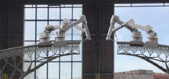Foto del prototipo de lo que será este puente