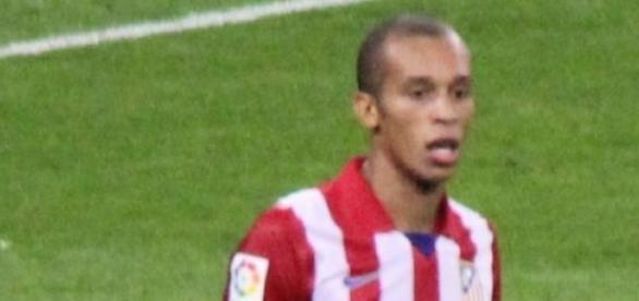 Miranda con el Atlético de Madrid