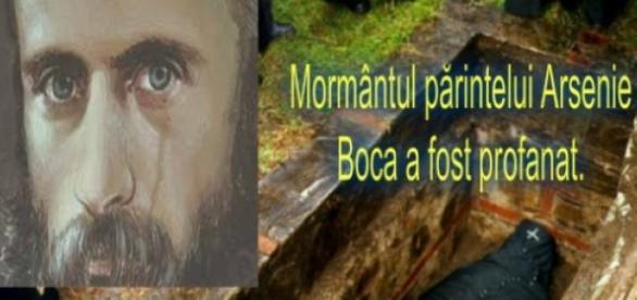 Mormântul părintelui Arsenie Boca a fost profanat.