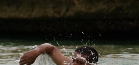 Samotny pływak, foto: vahiju