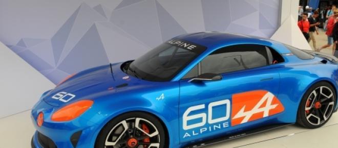 Alpine Celebration en exposición en Le Mans.