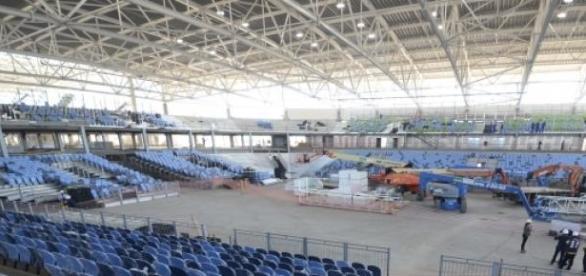 assentos instalados na arena carioca 3