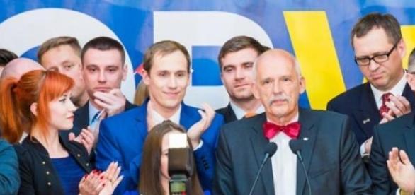 Czy Korwin zaprowadzi swą partię do Sejmu?