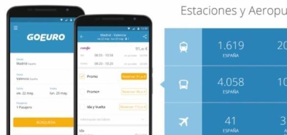 La nueva app de GoEuro para planificar viajes