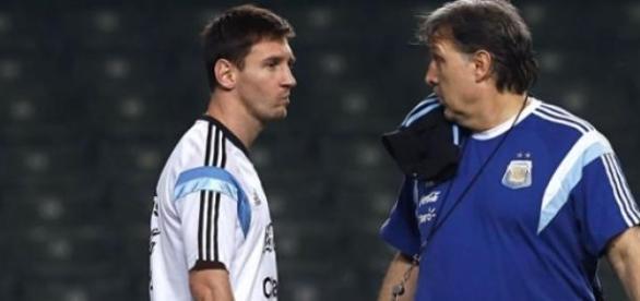 Messi y Martino quieren el primer puesto