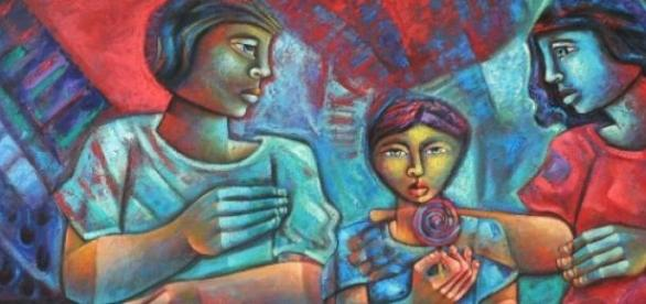 reprodução de uma das obras de Adélio Sarro