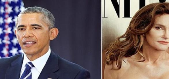 Barack Obama et Caitlyn Jenner.