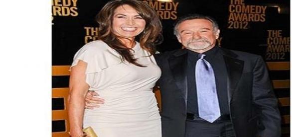 Robin Williams împreună cu soția sa