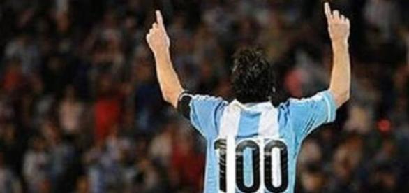 Lionel Messi, 100 partidos con la Argentina