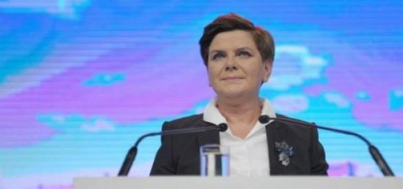 Beata Szydło podczas konwencj PiS