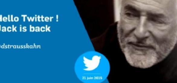 DSK fait son grand retour sur Twitter