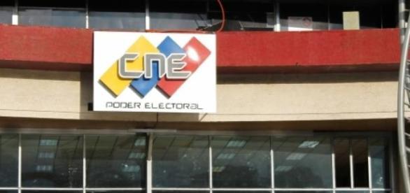 Edificio del Consejo Nacional Electoral en Caracas