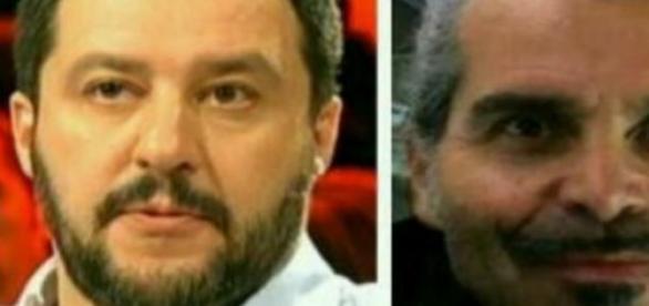 Matteo Salvini e Piero Pelù