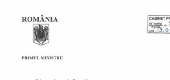 Scrisoarea lui Victor Ponta