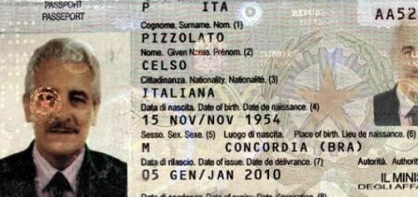 Documento falso utilizado pelo Henrique Pizzolato